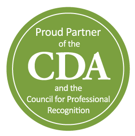 Logo for proud partner of the CDA Council and the Council for Professional Recognition