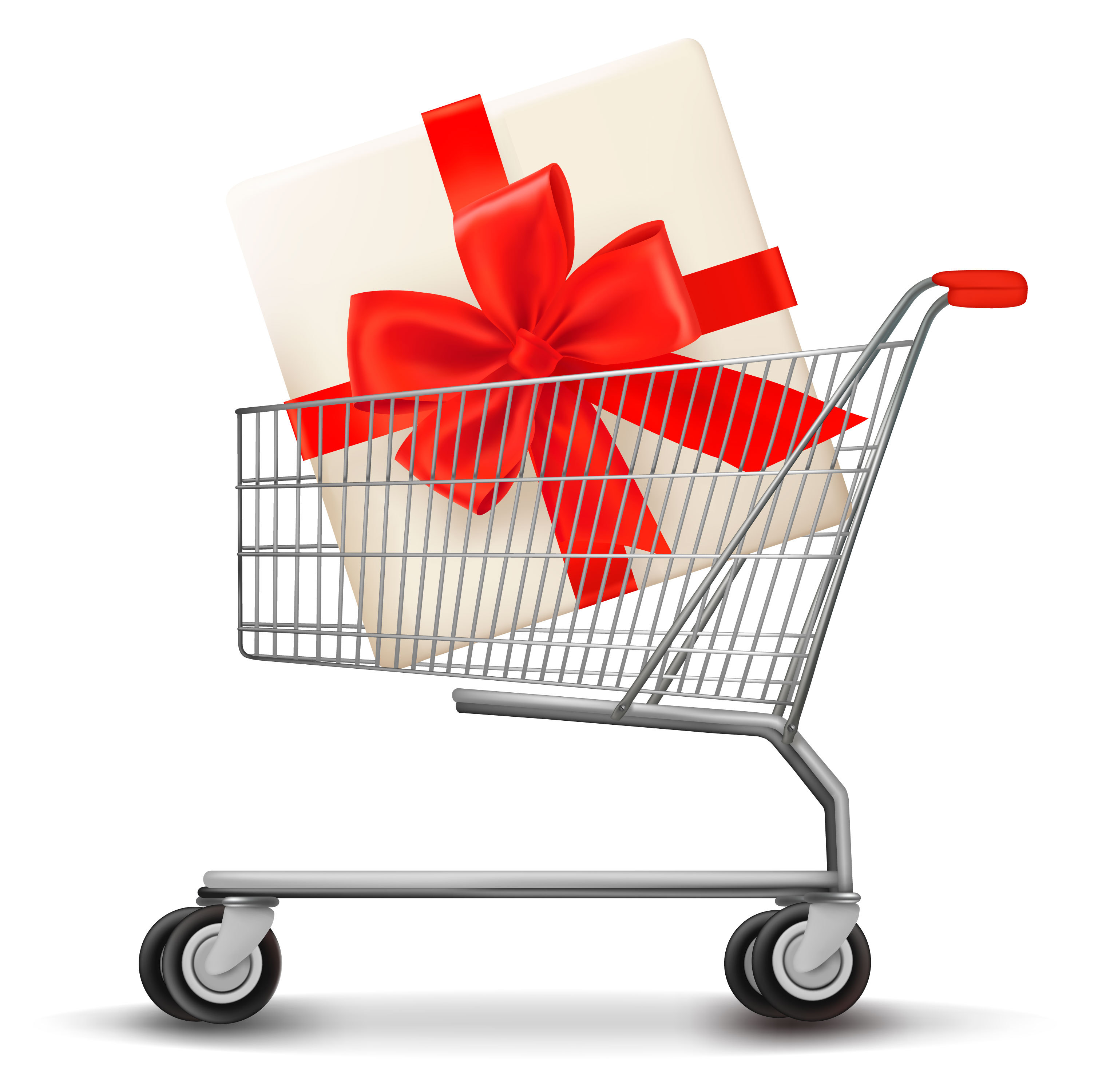 Shopping cart loaded with special deals