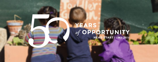 Children celebrating fifty years of opportunity for Head Start programs