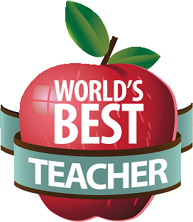 Apple with World's Best Teacher