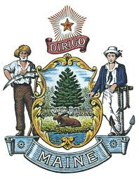 The great seal of the State of Maine