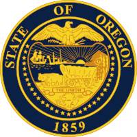 The great seal of the State of Oregon