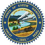 The great seal of the State of South Dakota