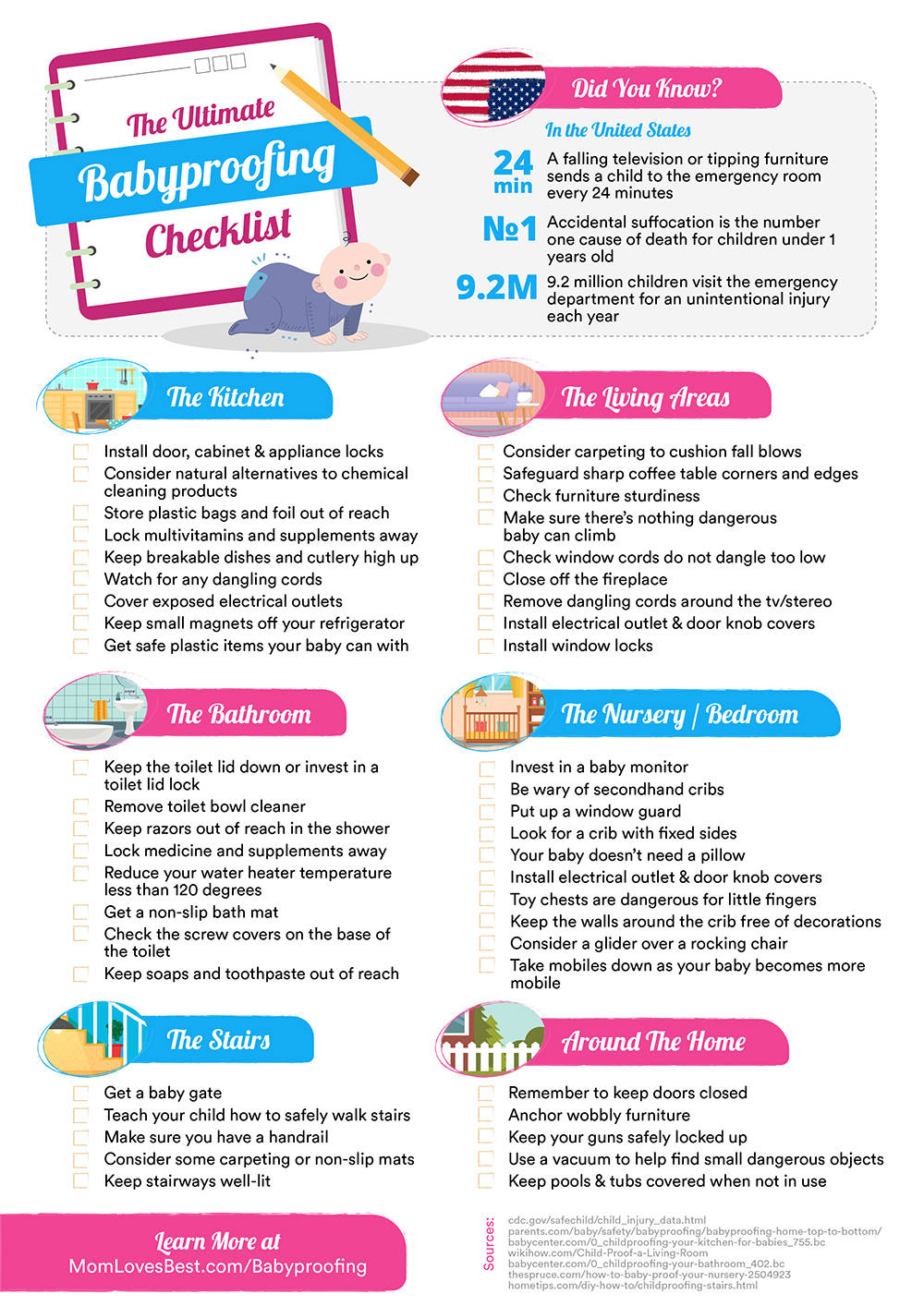 ultimate babyproofing checklist for parents